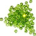 50 Olivine 4mm Glass Crystal Bicones