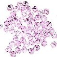 50 Pink 4mm Glass Crystal Bicones