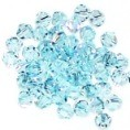 50 Sky Blue 4mm Glass Crystal Bicones