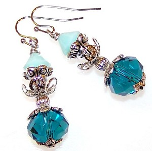 Brilliant Blues Earrings Beaded Jewelry Making Kit