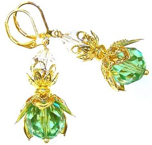Fluttering Fairy Earrings Beaded Jewelry Making Kit