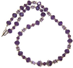 Graceful Purple Beaded Jewelry Making Set