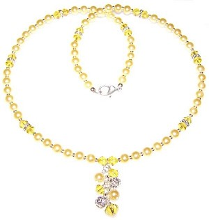 Lemon Meringue Beaded Jewelry Making Set