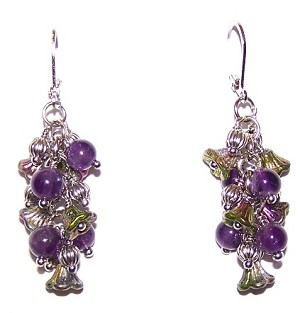 Magic Orchid Earrings Beaded Jewelry Making Kit