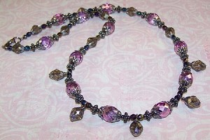 Metallic Purple Beaded Jewelry Making Set