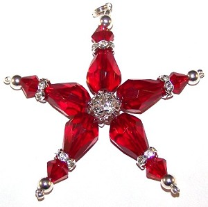 Red Star Ornament Beaded Jewelry Making Kit