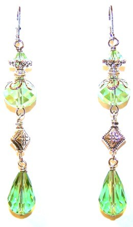 Peridot Paradise Earrings Beaded Jewelry Making Kit