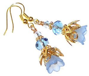 Sapphire Dreams Earrings Beaded Jewelry Making Kit