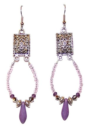Stardust Earrings Beaded Jewelry Making Kit