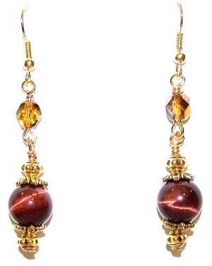 Tiger Eye Delight Earrings Beaded Jewelry Making Kit