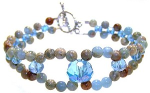 Tranquil Waves Bracelet Beaded Jewelry Making Kit