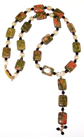 Unakite Obsession Beaded Jewelry Making Set