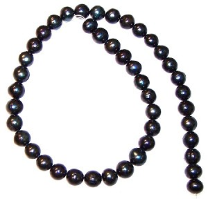 1 Strand of 7-8mm Peacock Color Cultured Freshwater Pearls
