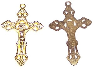 5 Pack of Gold-Plated Pewter Crucifix #37