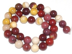 1 Strand of Moukaite Jasper 10mm Round Semiprecious Gemstone Beads