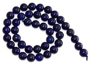 1 Dozen Lapis Lazuli 10mm Round Semiprecious Gemstone Beads