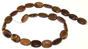 6 - 13x18mm Puff Oval Semiprecious Gemstone Beads - Bronzite