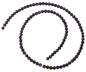 1 Strand of 4mm Round Semiprecious Gemstone Beads - Blue Goldstone
