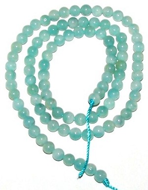 1 Strand of 4mm Round Semiprecious Gemstone Beads - Amazonite