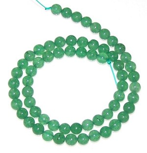 1 Dozen 6mm Round Semiprecious Gemstone Beads - Aventurine