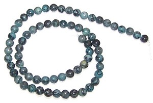 1 Dozen Blue Picasso Jasper 6mm Round Semiprecious Gemstone Beads
