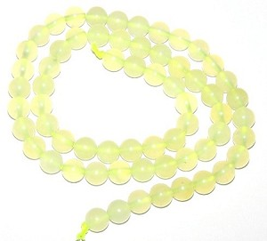 1 Strand of 6mm Round Semiprecious Gemstone Beads - New Jade