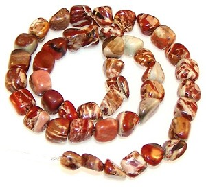 1 Strand of Jasper 7x10mm Irregular Nugget Semiprecious Gemstone Beads