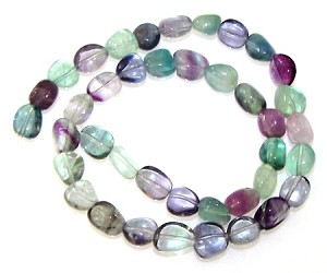 1 Dozen Fluorite 7x10mm Irregular Nugget Semiprecious Gemstone Beads