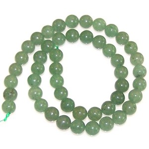 1 Dozen 8mm Round Semiprecious Gemstone Beads - Aventurine