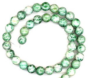 1 Strand of 8mm Round Semiprecious Gemstone Beads - Qinghai Jade