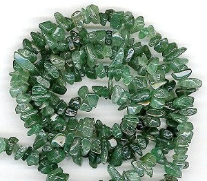 1 Strand of Semiprecious Gemstone Chip Beads - Aventurine