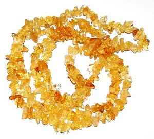 1 Strand of Semiprecious Gemstone Chip Beads - Citrine