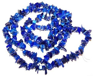 1 Strand of Semiprecious Gemstone Chip Beads - Lapis