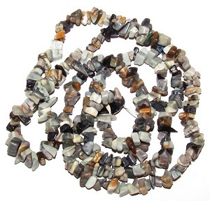 1 Strand of Semiprecious Gemstone Chip Beads - Picasso Jasper