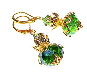 Enticing Emeralds Earrings Beaded Jewelry Making Kit